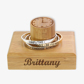 Exclusive Sale - Brittany Personalized Wood Bracelet Watch Holder