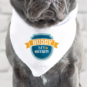 Buddy My Security Personalized Dog Bandana