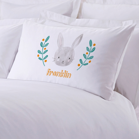 Bunny Personalized Kids Pillowcase