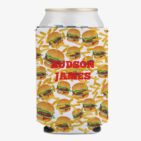 Burger & Fries Custom Can Beverage Holder