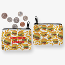 Burgers & Fries Personalized Coin Purse