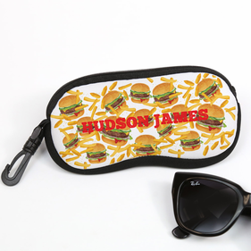 Burgers & Fries Personalized Glasses Case