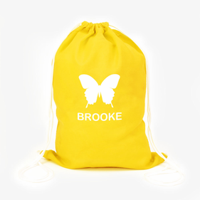 Butterfly Custom Summer Fun Drawstring Bag