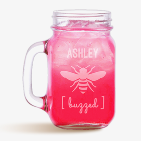 Buzzed Bee Customized Mason Jar