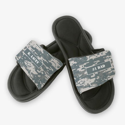 Personalized Gifts Camouflage Dad Slip On Sandals Shop Now