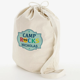 Camp Rocks Custom Laundry Bag w/ Shoulder Strap