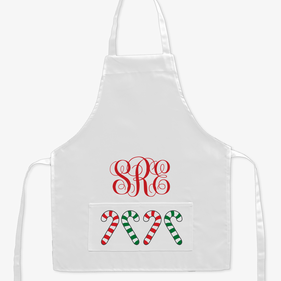 Candy Cane Custom Kids Apron