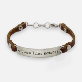 Capture Life's Moments Leather Bracelet