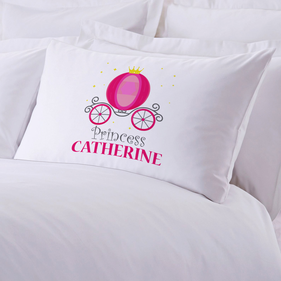 Princess Carriage Personalized Kids Pillowcase