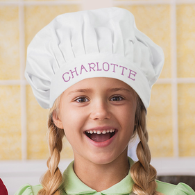 """Charlotte Personalized Chef In Training Hat <p><span style=""""color:#ff0000;"""">***CHEF HAT IS CURRENTLY OUT OF STOCK"""