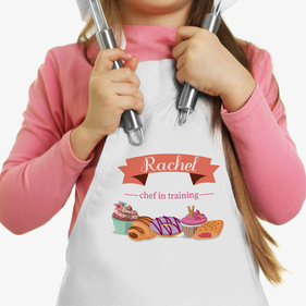 Exclusive Sale - Chef In Training Personalized Kids Apron
