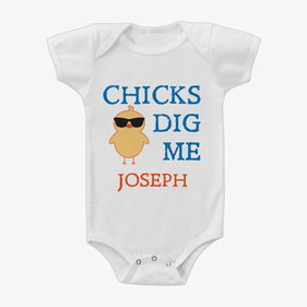 Chicks Dig Me Custom Baby One-Piece Bodysuit