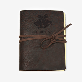 Christmas Bells Custom Genuine Leather-Bound Large Journal