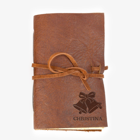 Christmas Bells Custom Leather-Bound Mini Journal