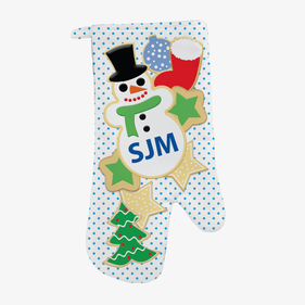 Christmas Cookies Custom Oven Mitt