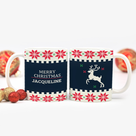 Christmas Deer Personalized Ceramic Mug