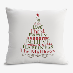 Custom Christmas Tree Decorative Cushion Cover