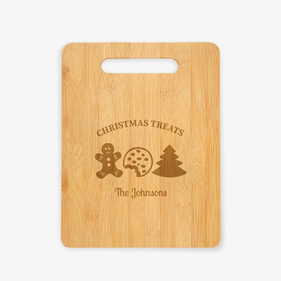 Christmas Treats Custom Wooden Cutting Board