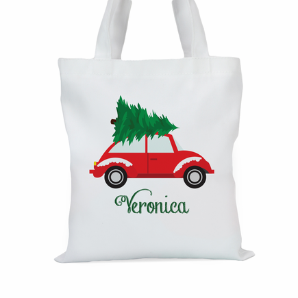 Christmas Tree Car Personalized Tote Bag