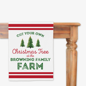 Christmas Tree Farm Custom Table Runner
