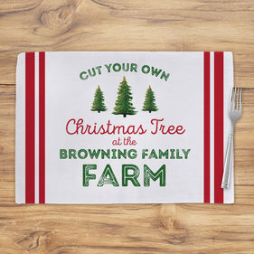 Christmas Tree Farm Personalized Placemat