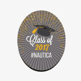 """Class Of"" Personalized Refrigerator Magnet"