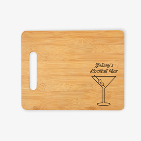 Cocktail Custom Wooden Cutting Board