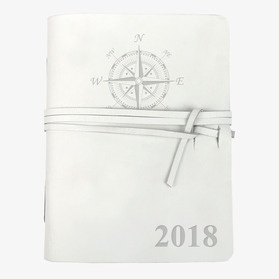 Compass Personalized Genuine Leather Wrap Journal