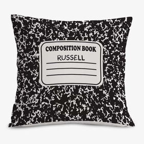 Composition Book Personalized Cushion Cover