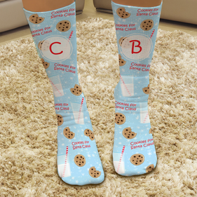 Cookies For Santa Claus Custom Christmas Tube Socks