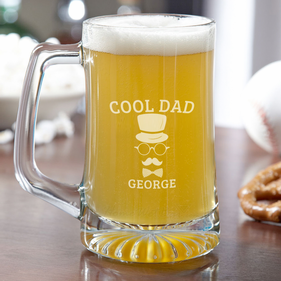 Cool Dad Personalized Beer Mug