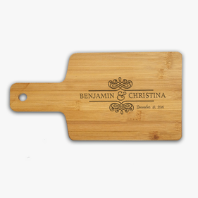 "Couple Name Custom Wooden Serving Board <p><span style=""color:#ff0000;"">[WOODEN SERVING BOARD IS CURRENTLY ON BACKORDER]"
