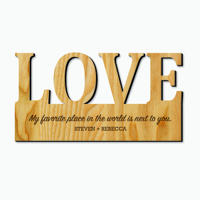 Couples Custom Love Decor Wood Art
