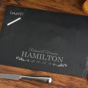 Couples Personalized Custom Slate Pad