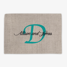 Couples Personalized Placemat
