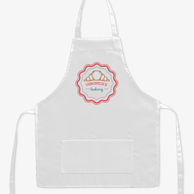 Croissant Bakery Personalized Kids Apron