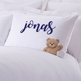 Cuddly Teddy Bear Personalized Pillowcase