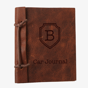 Custom Authentic Leather Car Journal