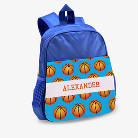 Custom Basketball Kids Blue Backpack