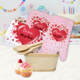 Custom Be Mine Kitchen Gift Basket