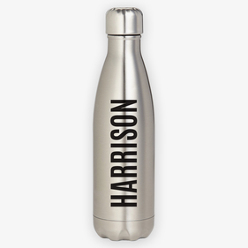 Custom Block Name Stainless Steel Water Bottle