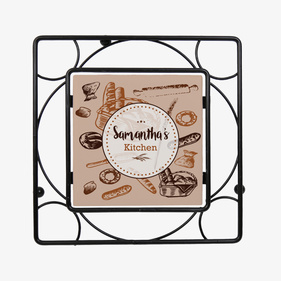 Custom Bread Basket Black Iron Trivet