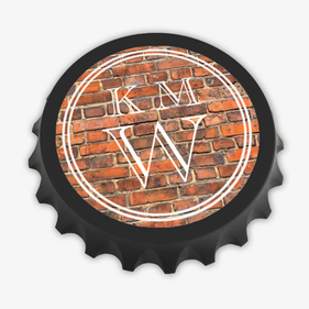 Custom Brick Design Magnetic Bottle-Cap Shaped Bottle Opener