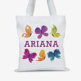 Custom Butterfly Kids Tote Bag