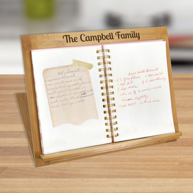 Custom Campbell Family Bamboo Book Stand