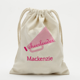 Custom Cheerleader Drawstring Sack