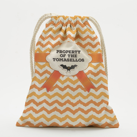 Custom Chevron Bat Drawstring Sack