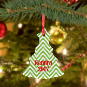 Custom Christmas Ceramic Tree Ornament