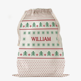 Custom Christmas Dot Snowflakes Large Drawstring Sack