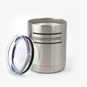 Custom Christopher Steel Vacuum Insulated Small Tumbler